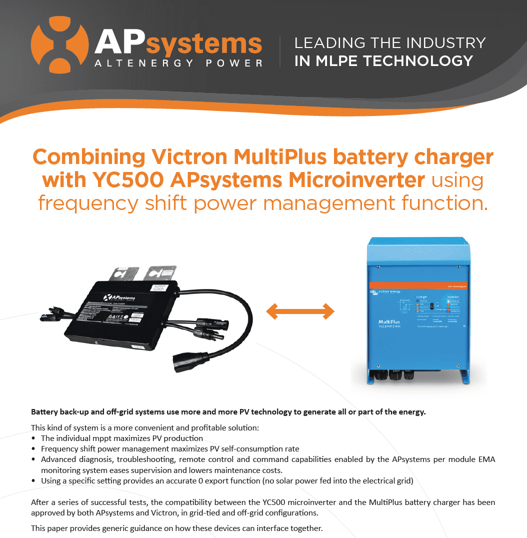 White Paper Apsystems Improves Compatibility With Victron Storage Solar Microinverter Panel System Design Electronic Products Screen Shot 2018 03 15 At 104409 Am While Microinverters